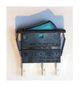 Gledhill Pulsacoil A Class Spares Green Illuminated Rocker Switch